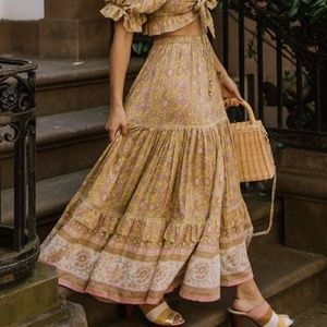 NWOT Spell Dahlia Maxi Skirt XS